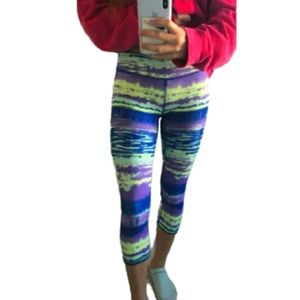 Ivivva by Lululemon Bright Graphic Cropped Legging